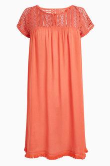 Next Lace Yoke Dress - 213519