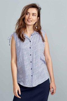 Next Purple Print Sleeveless Shirt - 213523