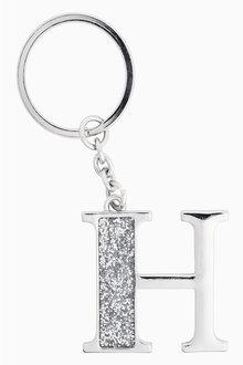Next Silver Tone Glitter Initial Keyring - 213603