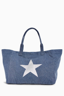 Next Star Print Canvas Shopper - 213657