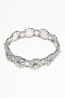 Next Pearl Effect Ornate Expander Bracelet - 213685