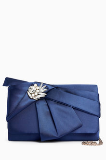 Next Satin Bow Clutch - 213693
