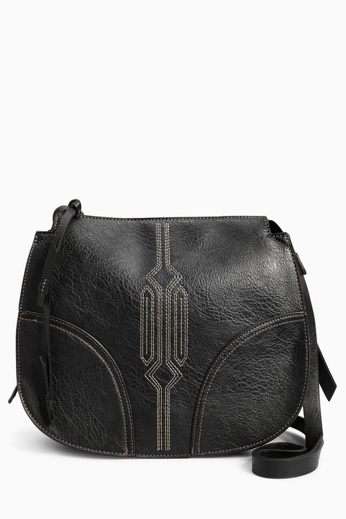 Next Stitch Detail Saddle Bag