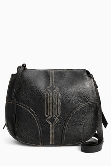 Next Stitch Detail Saddle Bag - 213718