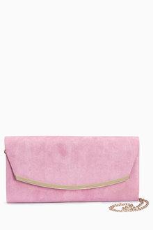 Next Lilac Curve Clutch Bag - 213722