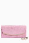 Next Lilac Curve Clutch Bag