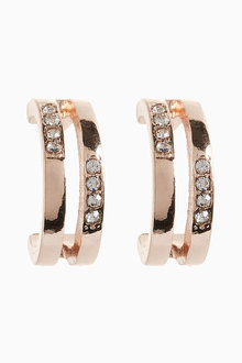 Next Two Row Hoop Earrings - 213736