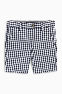 Next Gingham Chino Shorts (3-16yrs) - 213826