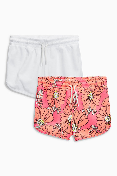 Next Bright Pink Floral Shorts Two Pack