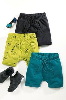 Next Lime/Black/Teal Shorts Three Pack - 213881