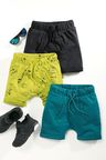 Next Lime/Black/Teal Shorts Three Pack