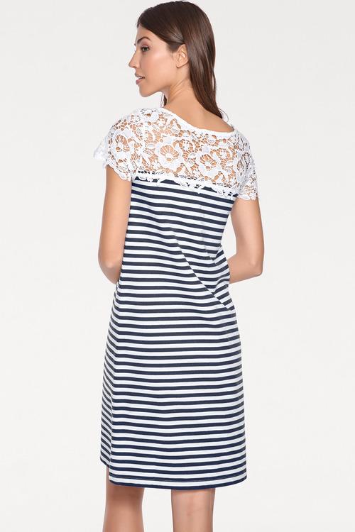Heine Lace Detail Striped Dress