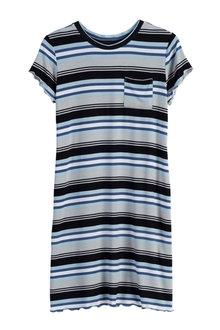 Urban Striped Tee Dress - 213933