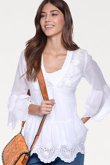 Heine Embroidered V-Neck Tunic