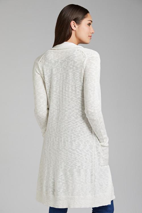 Emerge Cotton Blend Long Cardigan