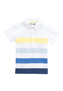Next Short Sleeve Stripe Polo - 214015