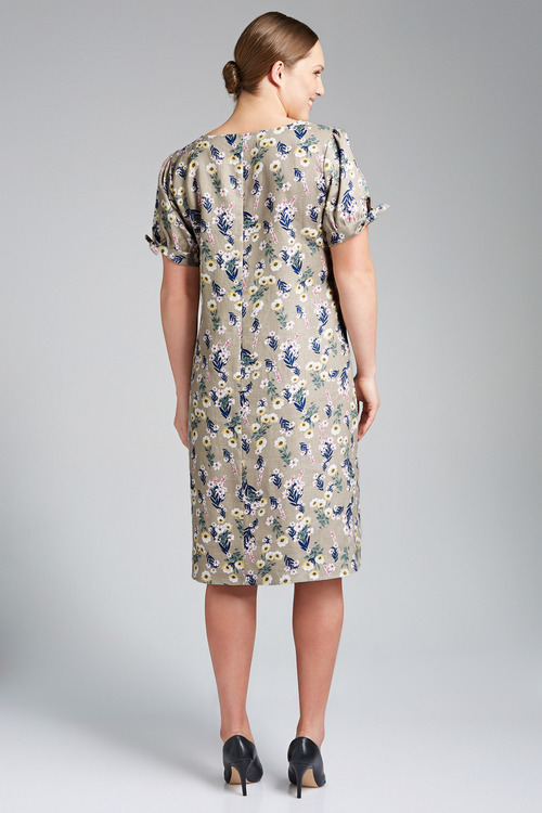 Plus Size - Sara Tie Sleeve Dress