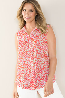 Plus Size - Sara Sleeveless Shirt