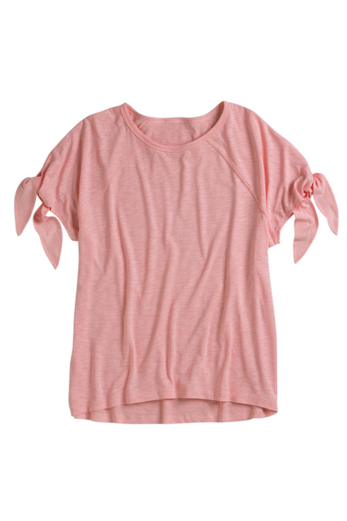 Capture Tie Sleeve Cotton Tee