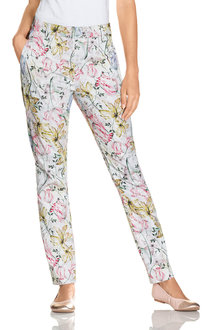 Capture Printed Cotton Sateen Pant