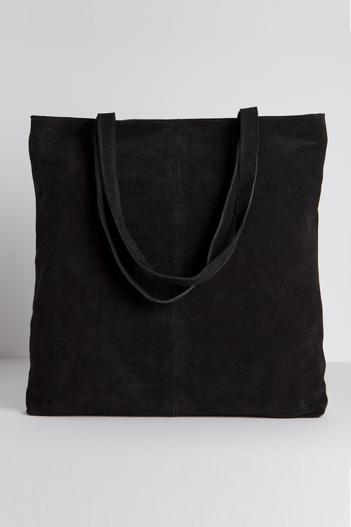 Contrast Suede Shopper