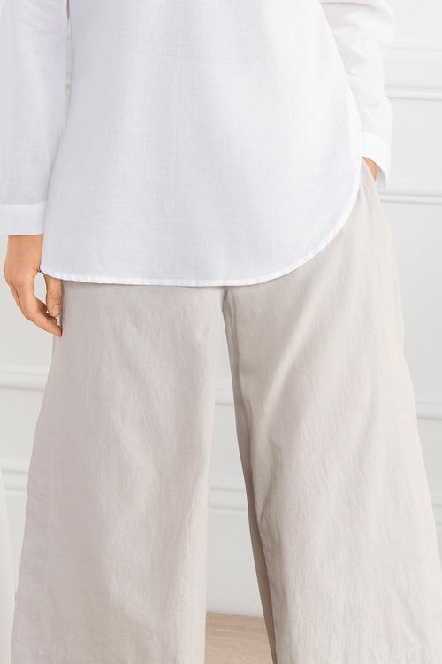 Grace Hill Wide Leg Cotton Pant