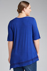 Plus Size - Sara Angle Hem Lace Top