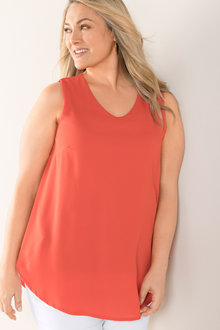 Plus Size - Sara Sleeveless Layer Top