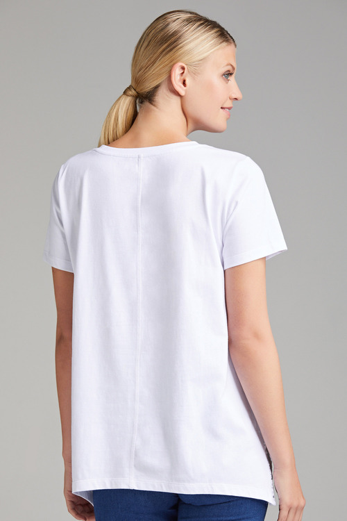 Capture Cotton Embroidery Trim Tee