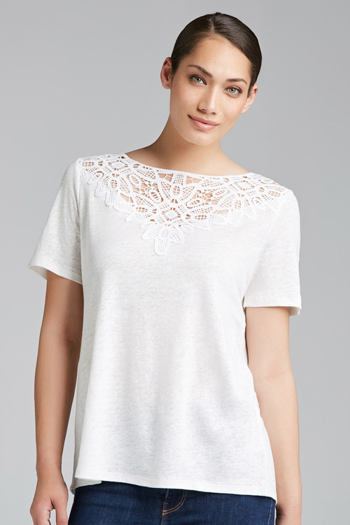 Capture Linen Lace Insert Tee