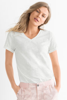 Capture Cotton Slub Plain & Print Tee