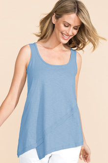 Capture Slub Assymetric Hem Tank