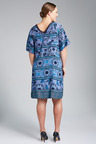 Plus Size - Tile Print Dress