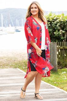 Plus Size - Sara Oriental Kimono