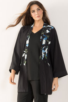 Plus Size - Placement Print Jacket