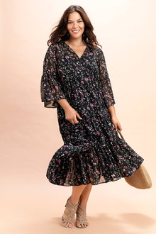 Plus Size - Sara Boho Dress with Slip