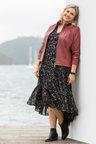 Plus Size - Sara Boho Dress with Slip
