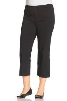 Plus Size - Sara 3/4 Bengaline Zip Crop