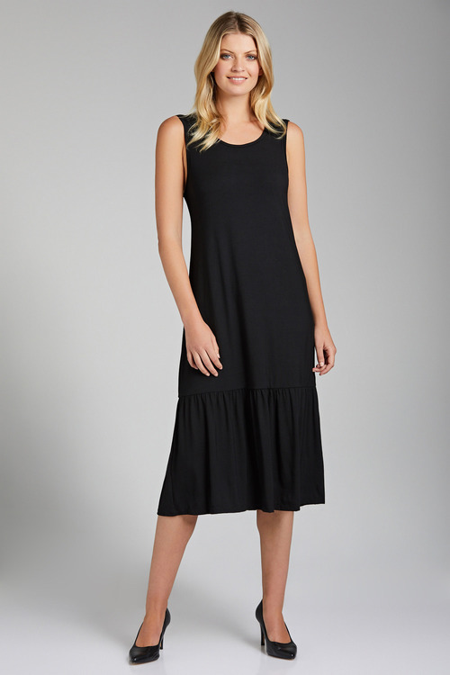 Capture Drop Hem Sleeveless Midi Dress