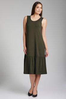 Capture Drop Hem Sleeveless Midi Dress - 214186