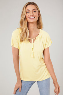 Capture Tie Neck Tee - 214193