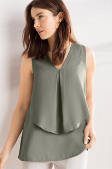Capture Georgette Layer Tank