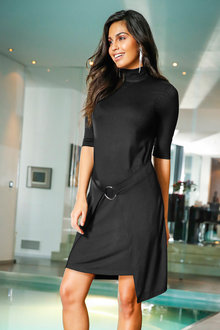 Urban Wrap Front Dress