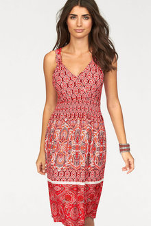 Urban Border Print Dress - 214226