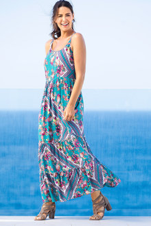 Sara Cross Back Maxi Dress - 214233