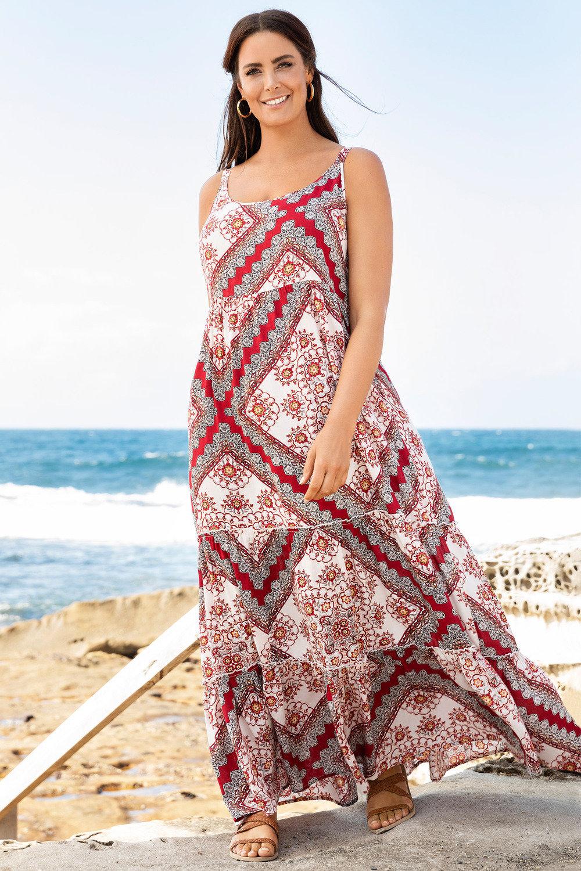 5f5b695374b Plus Size - Sara Cross Back Maxi Dress