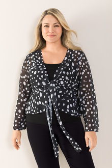 Plus Size - Sara Chiffon Shrug - 214234