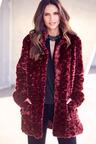 Kaleidoscope Hi Collar Faux Fur Coat