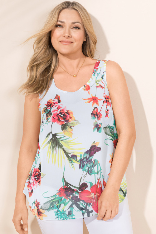 Plus Size - Sara Round Neck Tank
