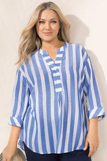 Plus Size - Sara Drop Shoulder Shirt - 214247